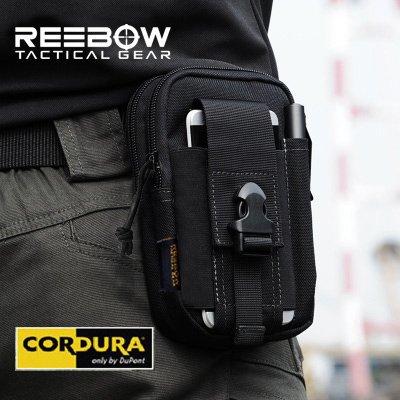 Reebow Gear Herren Taktische Miltaer EDC Molle Tasche 1000D Cordura Schwarz
