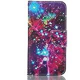 Rabat Style Portefeuille Samsung Galaxy A5 (2016) / A510 Coque Protection Anti Choc, Carte Titulaire PU Cuir Poids léger Case Cover, Ciel étoilé Motif