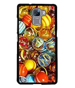 FUSON Designer Back Case Cover for Huawei Honor 7 :: Huawei Honor 7 (Enhanced Edition) :: Huawei Honor 7 Dual SIM (Glow in The Dark Multi Colour Balls)
