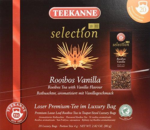 Teekanne Selection 1882 im Luxury Bag - Rooibos Vanille - mild, koffeinfrei, 20 Portionen, 1er Pack (1 x 80 g)