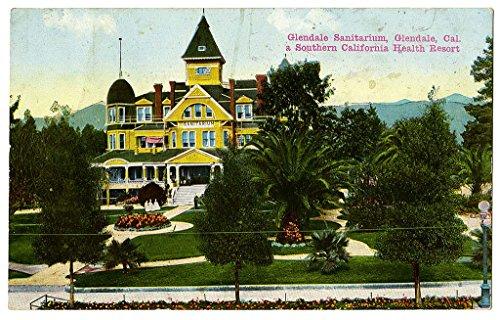 poster-a3-the-glendale-sanitarium-glendale-cal-a-southern-california-health-resort