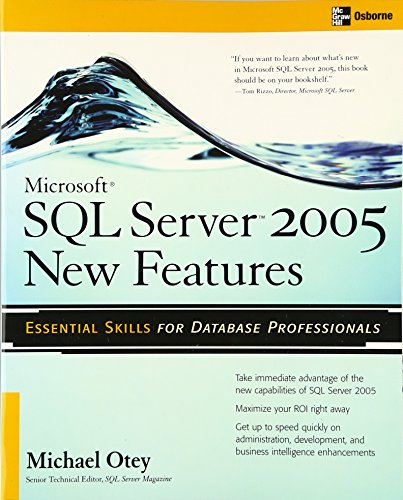 Microsoft(R) SQL Server 2005 New Features (Database) por Michael Otey