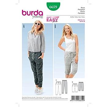 Burda Damen Schnittmuster 6659 Casual Trainingsanzug Hose + gratis ...