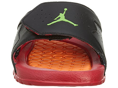 Jordan Nike Youths Hydro 7 Retro BG Synthetic Sandals Black/Green Pls-tr Red-bright Mndrn