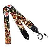 ADNYIDAWAN Rondaful Guitar Straps Personalized Printing Guitar Straps Golden Phoenix Winter-sweet Pattern ADNYIDAWAN