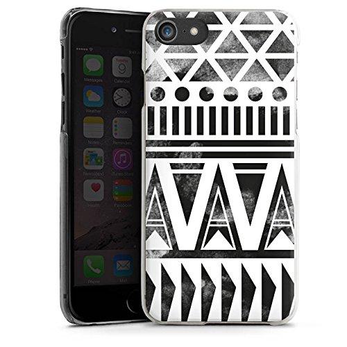 Apple iPhone X Silikon Hülle Case Schutzhülle Ethno Modern Schwarz-Weiß Hard Case transparent
