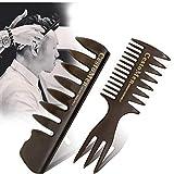 2ST Professionelle Männer Styling-Kamm Set Men Friseurwerkzeug Weit Zähne Gabel Comb Oil Hair Styling-Kamm Groß Für Alle Haartypen