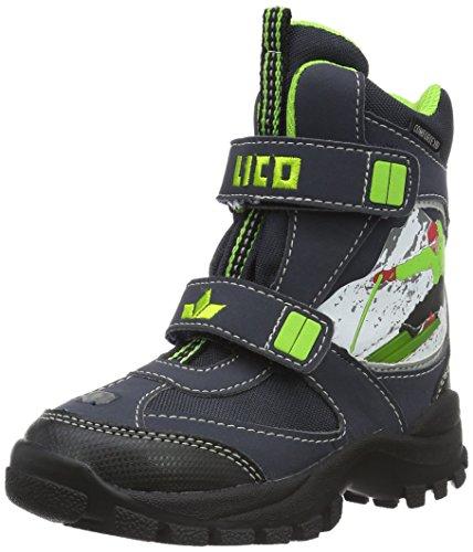 Lico Skier V, Stivali da Neve Bambino, Blu (Marine/Lemon), 32 EU