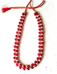 RBS Red Stone With White Pearl Necklace For Women