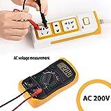 Proster Digitaler Multimeter mini digitaler Multimeter Tester DMM DC AC Strom Spannung Ohm mit LCD Hintergrundbeleuchtung -