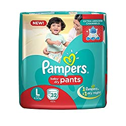 Pampers New Large Size Diapers Pants (32 Count)