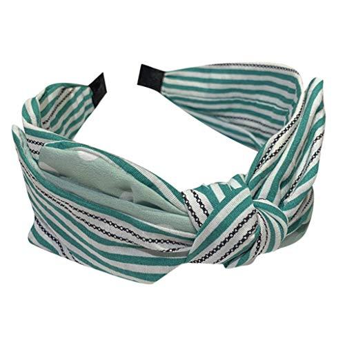 LILIHOT Frauen gestreiften Wave Point Haarband Stirnband Cross Tie Stirnband Haarband Hoop Stirnbänder für Damen Headwraps Stretchy Stirnbänder für Mädchen Haarband Hoop Set