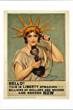 World War I One Tin Sign Metal Poster (reproduction) of Hello! This is liberty speaking - billions of dollars are needed and needed now