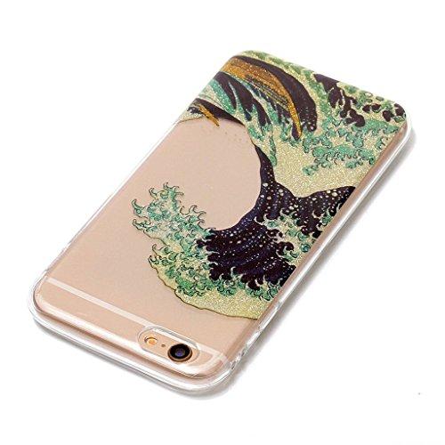 Per iPhone 6 Plus / iPhone 6S Plus Cover , YIGA Moda panda Cristallo Trasparente Silicone Morbido TPU Case Caso Shell Protezione Copertura Custodia Copertina per Apple iPhone 6 Plus / iPhone 6S Plus ( XS62
