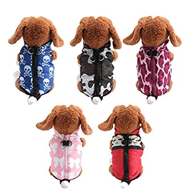 Amselleruk Hot Warm Pet Cat Dogs Apparel Soft Padded Vest Harness Small Puppy Coat Clothing