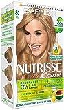 Garnier Nutrisse Creme Coloration Vanille Blond 80, Färbung für Haare für permanente Haarfarbe (mit 3 nährenden Ölen) - 3er Pack (3 x 1 Stück)