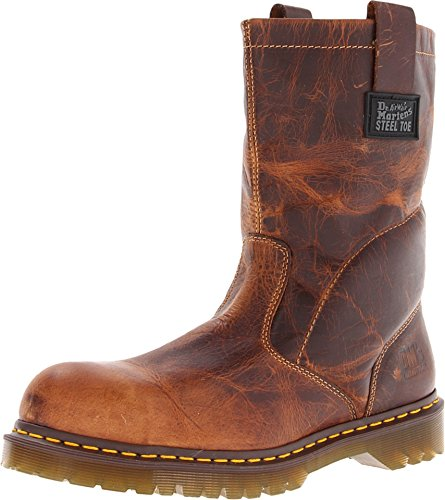 Dr. Martens Women's 2295 Steel Toe Boots,Brown,3 M UK/5 D(M) US Industrial Rigger Boot