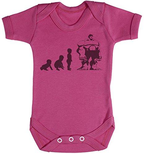 Baby Evolution to A Hulk Baby Strampler - Baby Body - Baby Body Geschenkset - 12-18 Monate Rosa -
