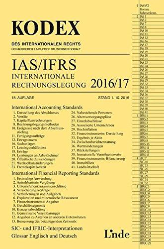 KODEX Internationale Rechnungslegung IAS/IFRS 2016/17 (Kodex des Internationalen Rechts)