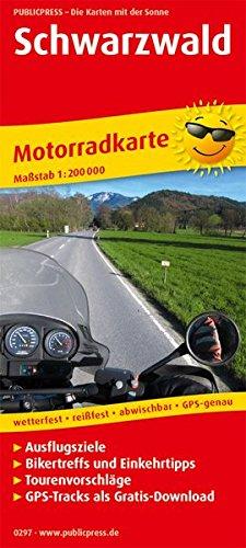 Schwarzwald: Motorradkarte mit Ausflugszielen, Einkehr- & Freizeittipps und Tourenvorschlägen, GPS-Tracks zum Gratis-Download, wetterfest, reißfest, ... GPS-genau. 1:200000 (Motorradkarte / MK)