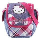 Hello Kitty Schulter-tasche 16328, Pink/Hell Blau