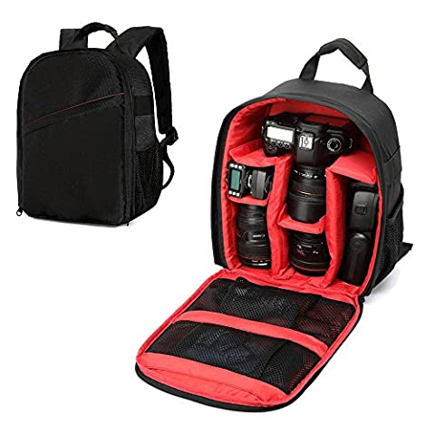 Sac à dos pour appareil photo avec habillage pluie gratuit Sac pour appareil photo reflex numérique Canon EOS et Nikon D7100, D7000, D5300, D5100, D5000, D3200et D3100.