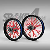 80pcs Couvre rayon - Rouge Spoke Skins Protège rayon Motocross Enduro Jante Roue