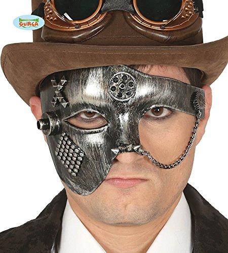 Maske Steampunk antiken Silbereffekt