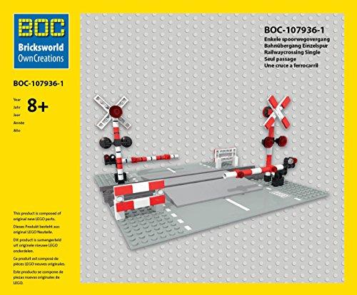 LEGO BOC-107936-1 Bahnübergang Einzelspur Zubehör 7936 7938 7939 60050 60051 60052 10233 3677 ... (Lego Bahnübergang)