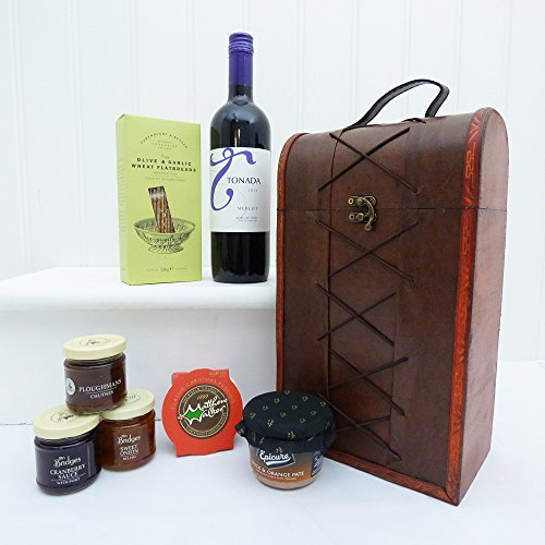 Luxury Duchess Food Chest Gift Hamper with Tonada Red Wine - Perfect Mother's Day Gift