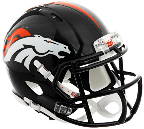 NFL Riddell Football Speed Mini Helm Denver Broncos (Nfl Football Helm)