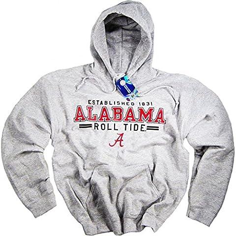 Alabama Crimson Tide-Felpa con cappuccio, motivo: bandiera dell'Università-Maglietta a maniche