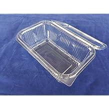 (Pack de 80) 1000ml ensalada contenedores de almacenamiento redonda con bisagras Take Away comida rápida desechables cuencos de almacenamiento de caja transparente de plástico tapas Cafe restaurante