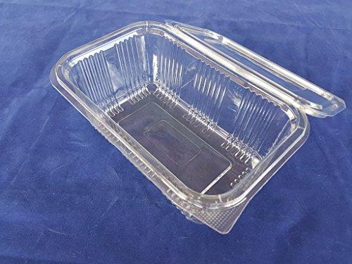 Deckel Vorratsbehälter Scharnier ((80Stück) 1000ml Salat Vorratsdosen Round Scharnier Take Away Fast Food Einweg CLEAR Box Kunststoff Deckel Aufbewahrungs-Schüsseln, Café-Restaurant)