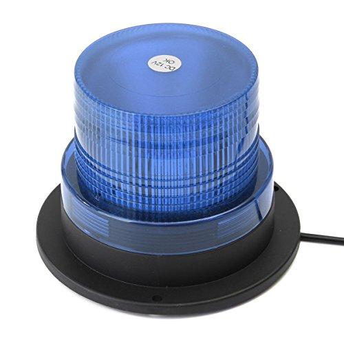 LED Rundumleuchte Auto Signal LED Warnleuchte Mit 12v Zigarettenanzünder Stecker Kennzeichenbeleuchtung mit Super Magnetfuß Blitzleuchte in blau