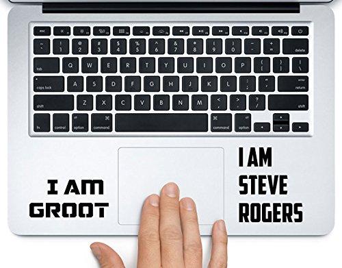 I am Groot Steve Rogers Avengers Marvel Aufkleber für Apple MacBook Pro Air 27,9 cm (12 Zoll), 13 Zoll (38,1 cm), alle Jahre Laptop-Tastatur, Vinyl, transparent New 13