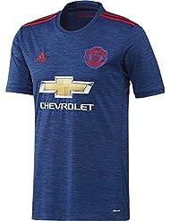 adidas MUFC A JSY Deuxième - T-shirt de club Manchester United 2015/16 pour Homme, Bleu / Rouge