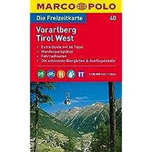 MARCO POLO Freizeitkarte Vorarlberg, Tirol West 1:120.000