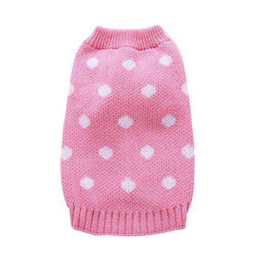 PanDaDa Weihnachten Turtleneck Hunde-T-Shirts Dog Wool Classic Pullover Fashion Hunde-Bekleidung Nette Und Süße Haustier-Pullover Runde Spot Hund Kleidung