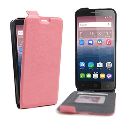 Manyip Téléphone Coque - PU Cuir rabat Wallet Housse [Porte-cartes] multi-Usage Case Coque pour Alcatel One Touch pop 4 plus Classique Mode affaires Style(JFC4-1) D