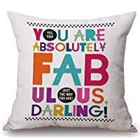 Bai Qian Cotton and linen YOU ARE MY SUNSHINE pillowcase pillow square cushion cover 18 * 18inch