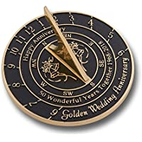 The Metal Foundry 50th Golden Wedding Anniversary Sundial Gift Idea Is A Great Present For Him, For Her Or For A Couple To Celebrate 50 Years Of Marriage