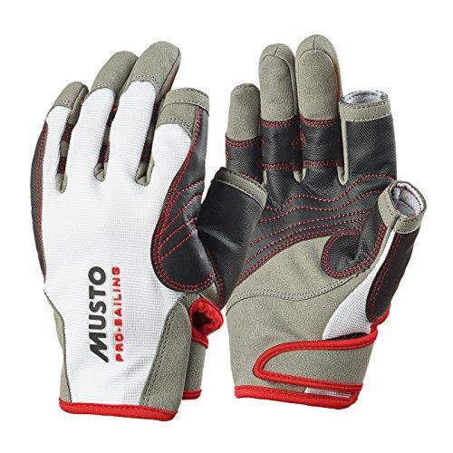 Musto Performance Handschuhe 2 kurze Finger Weiss Grau L