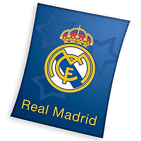 Real Madrid plaid couverture polaire 110x140 cm Fleece Blanket idée déco Champions Club Football