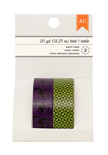 American Crafts Halloween schwarz Katzen & Mint Checker Washi Tape, 20YD