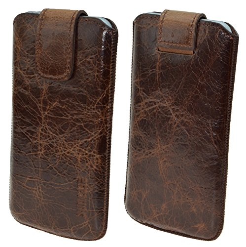 """iPhone 7 Plus (5.5"""") Original Suncase® Ledertasche Tasche Case Schutzhülle Hülle (mit ZUSÄTZLICHER Transparent Hülle + 9H Panzerglas) in rustik-mocca braun rustik-tobacco"""