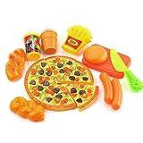 Manfore 15 StüCk Küchenspielzeug Lebensmittel / Essen Spielzeug Plastik / Spielzeug Schneiden / Spiel Essen PäDagogisches Lernen Spielzeug Rollenspiele Weihnachtsgeschenk