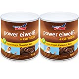 Forever Young Power Eiweiß + Carnitin, 2 x 750g Dose, Schoko (Chocolat Noir)