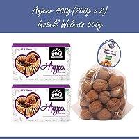 Wonderland Foods Premium Quality Anjeer 400g & Inshell Walnut 500g