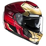 HJC Casque Moto RPHA 70 Ironman Homecoming, Rouge/Or, Taille L